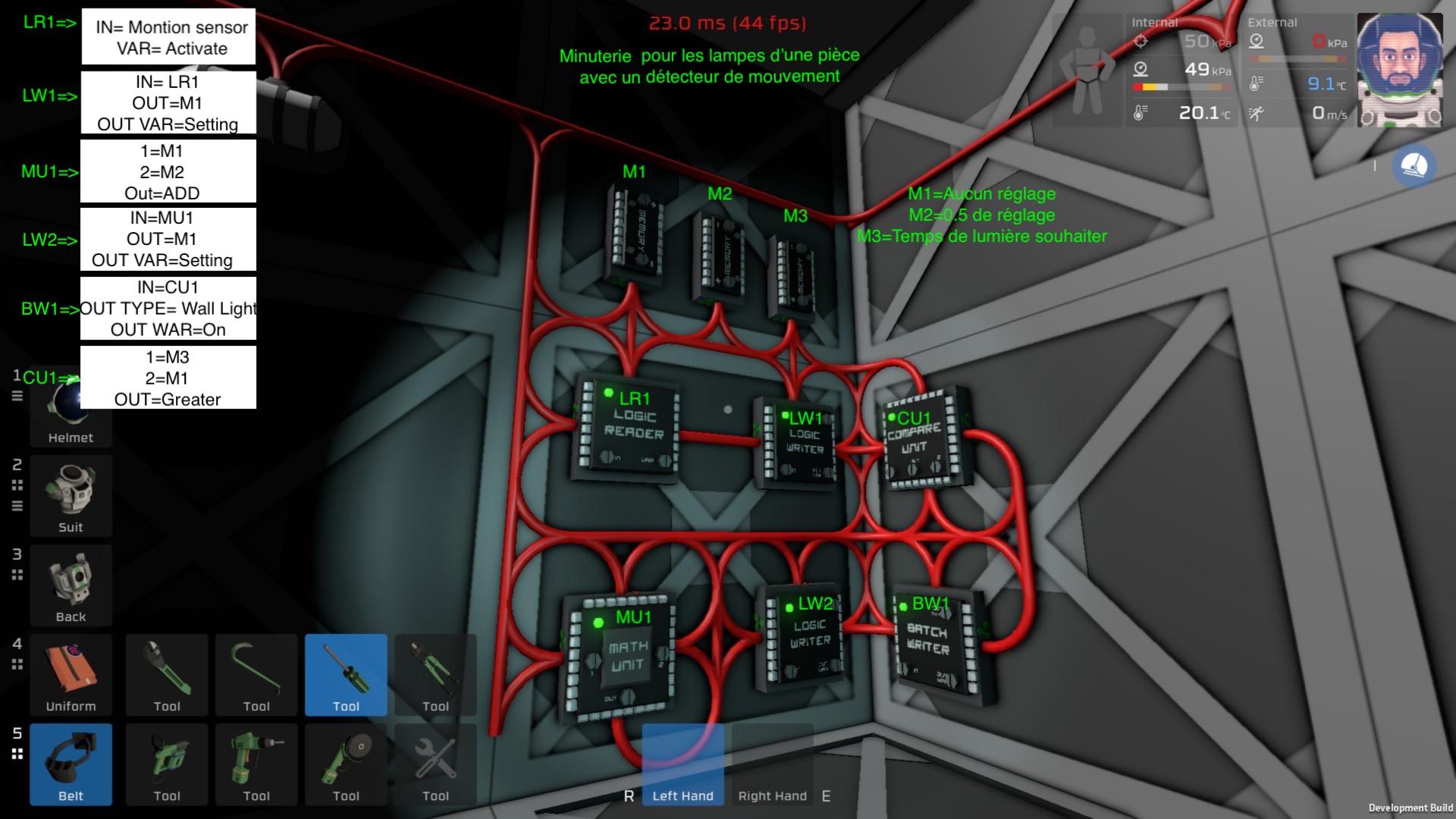 Minuterie pour automatiser l'alumage des lampes gràce au capteur de mouvement. Minuterie
